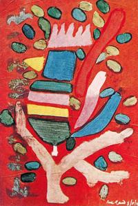 Painting titled Treebird