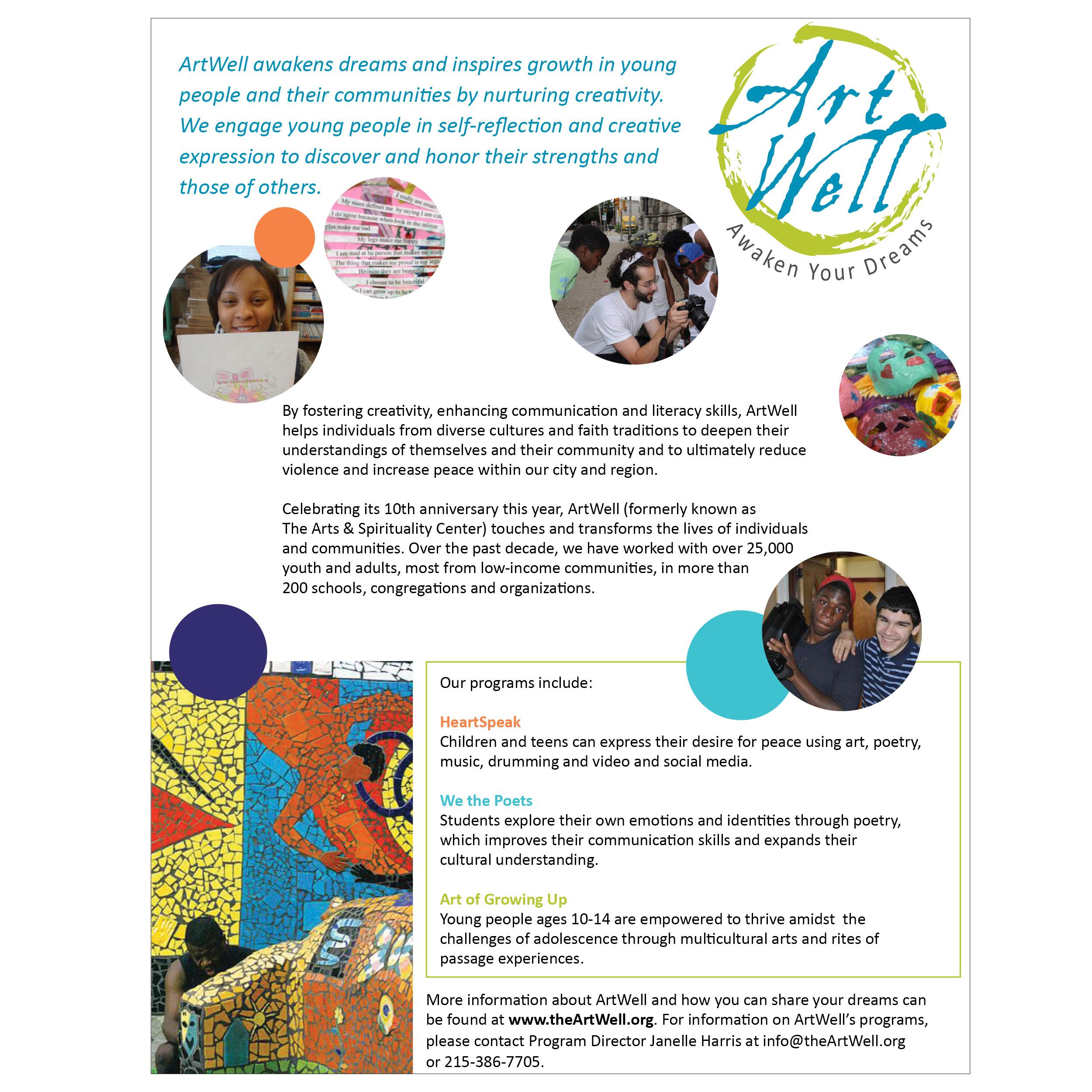 ArtWell flyer
