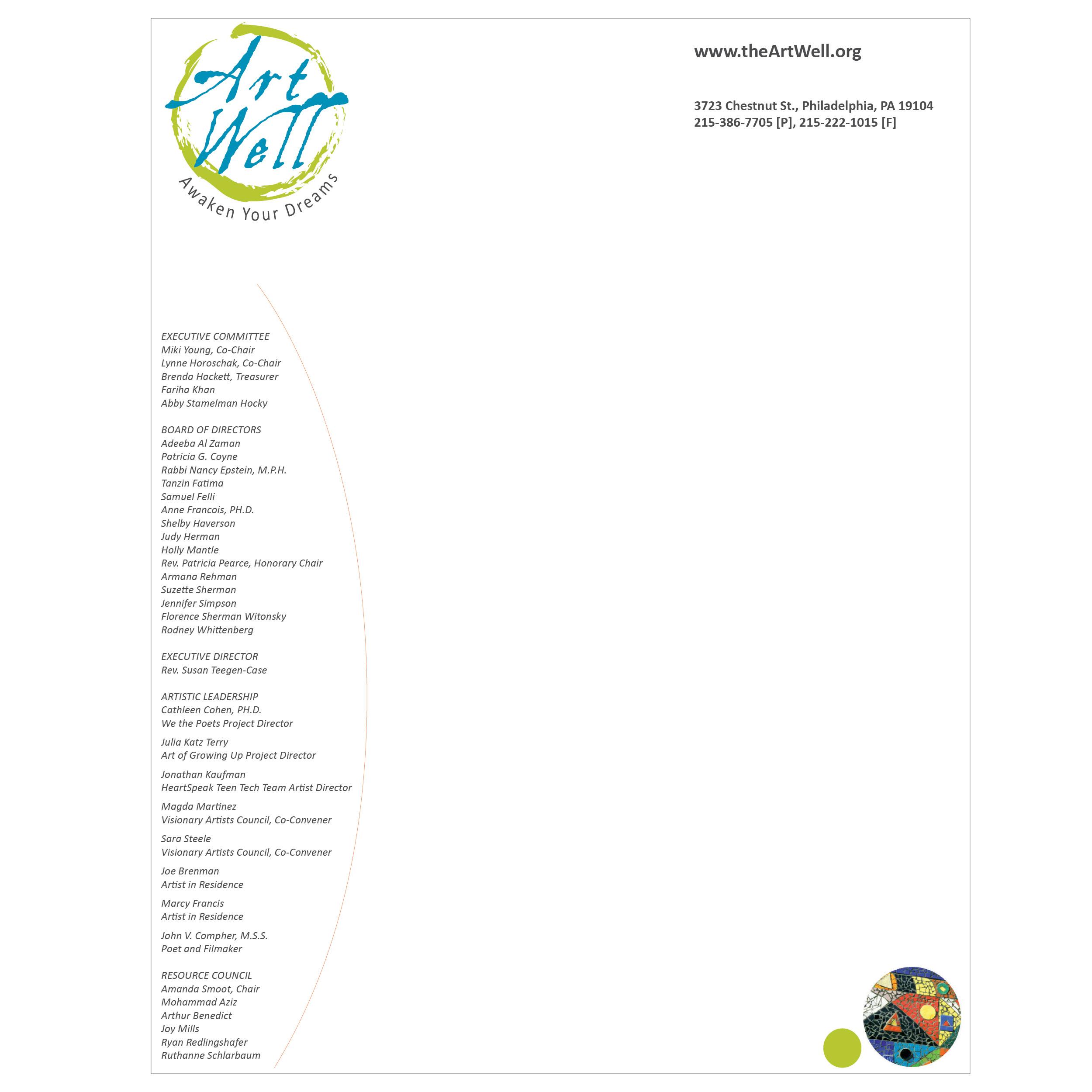ArtWell letterhead